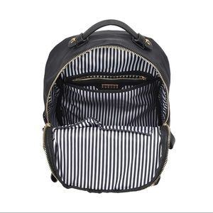 Backpack with gold studs & multiple compartments